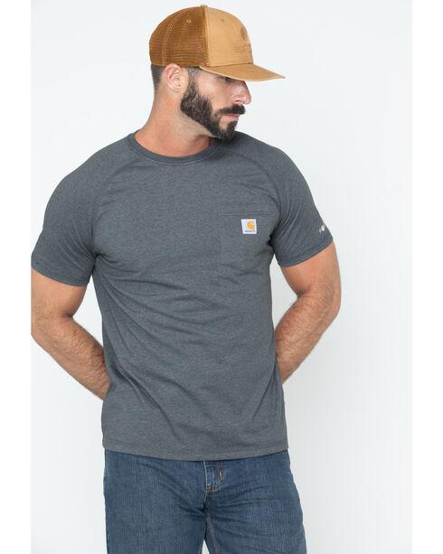 Carhartt Force Cotton Short Sleeve Shirt, Slate, hi-res