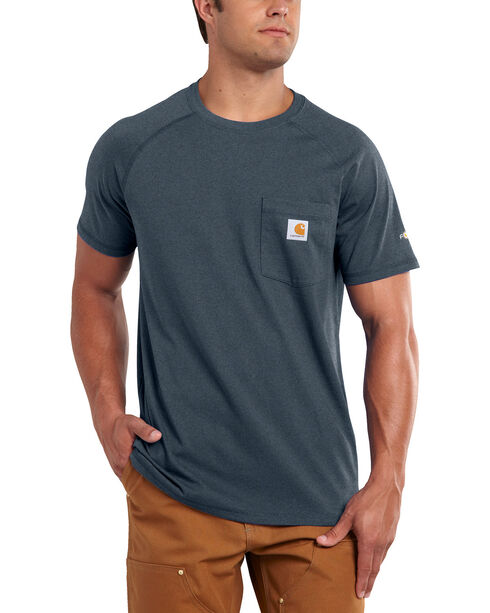 Carhartt Men's Short Sleeve Force T-Shirt, Slate, hi-res