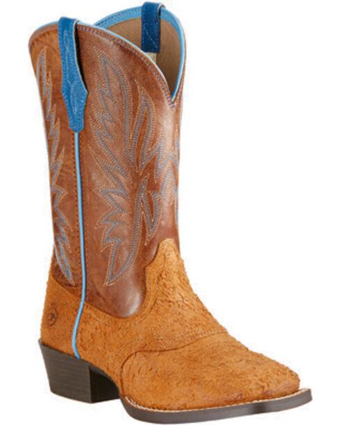 Ariat Boys' Outrider Cowboy Boots - Square Toe, Oak, hi-res