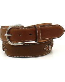 Nocona Men's Laced Ribbon Overlay Belt , , hi-res