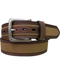 Berne Men's Canvas Leather Lined Belt , , hi-res