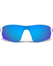Under Armour Rival Satin White Blue Lens Sunglasses , , hi-res