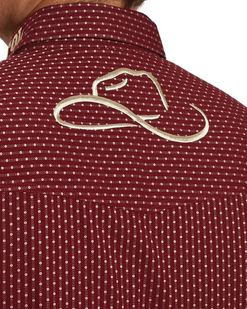 Resistol Men's Burgundy Stapleton Logo Button Shirt , Burgundy, hi-res