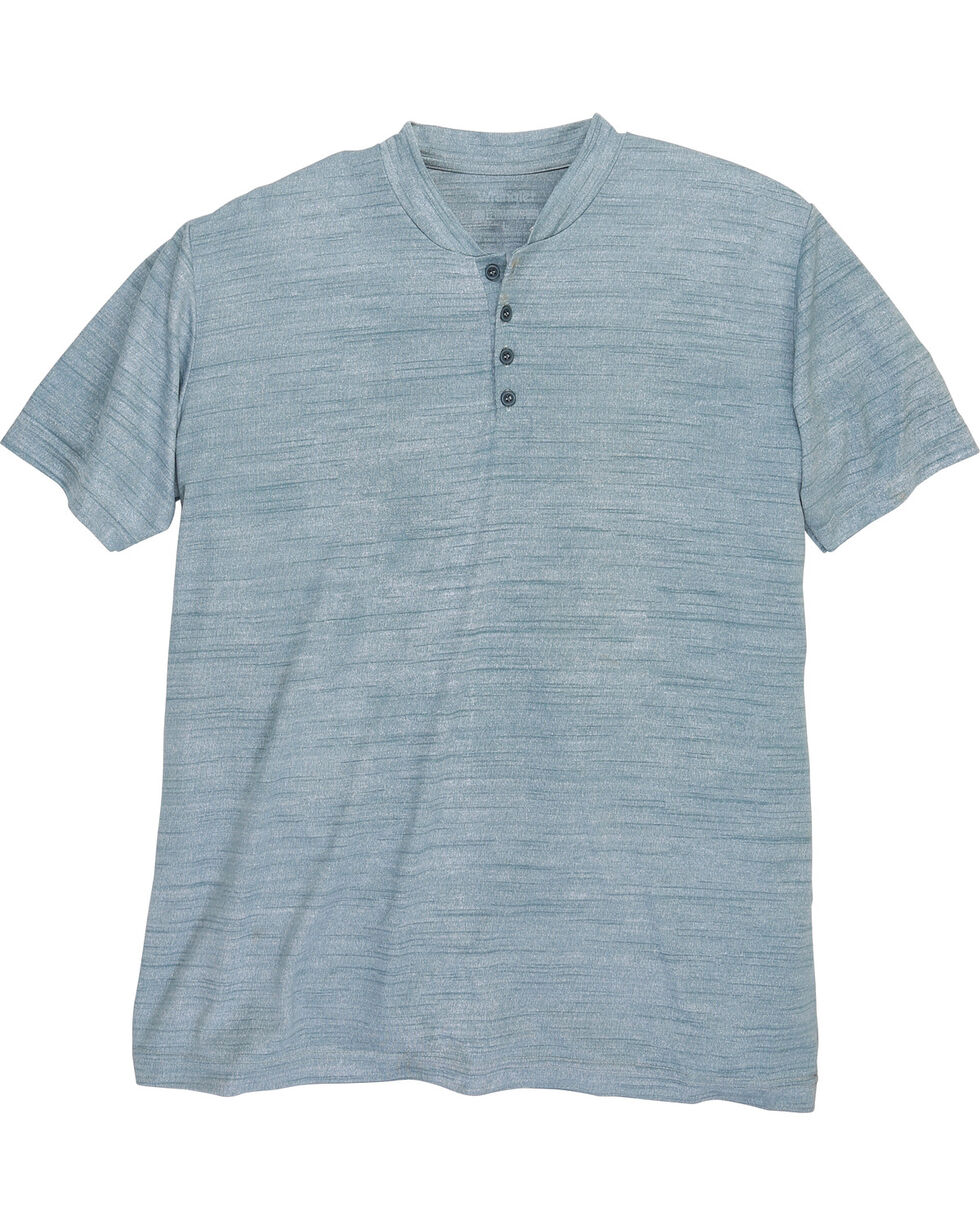 Wrangler Men's Riggs Workwear Short Sleeve Henley Shirt - Big and Tall , Blue, hi-res