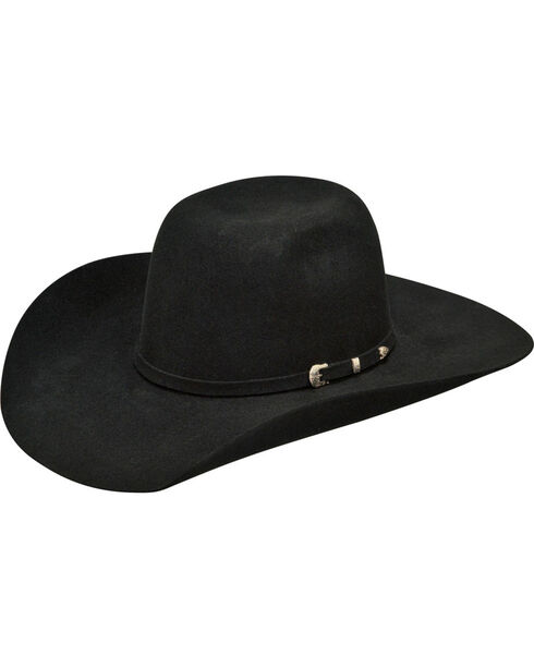 Ariat Youth Wool Western Hat, Black, hi-res