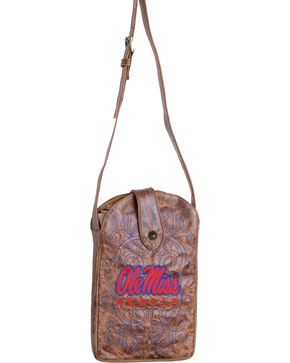 Gameday Boots University of Mississippi Crossbody Bag, Brass, hi-res