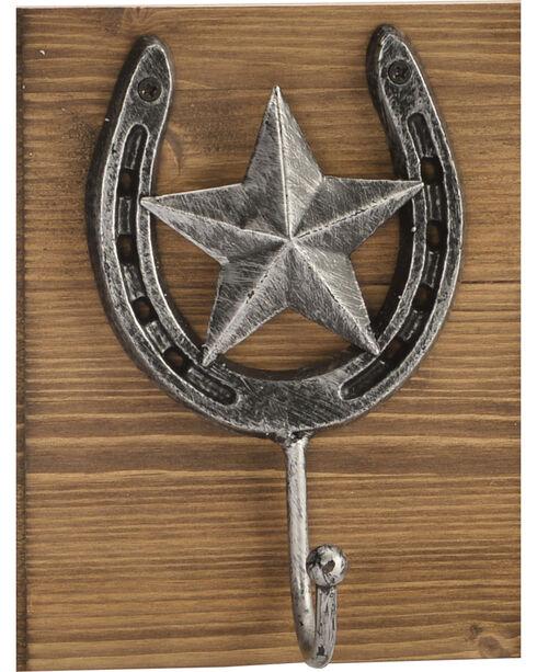 BB Ranch® Triple Horseshoe Wall Hook, No Color, hi-res