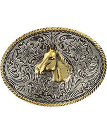 Cody James® Kid's Dual-Tone Horse Buckle, , hi-res