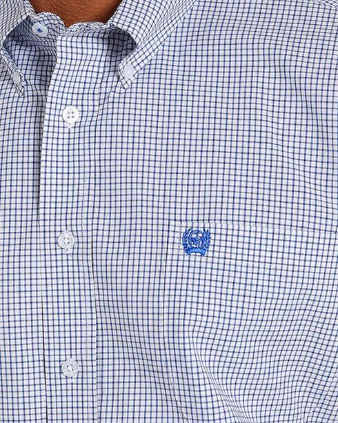 Cinch Men's Checkered Plaid Short Sleeve Button Down Shirt - Big , White, hi-res