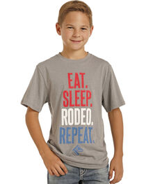 Panhandle Boys' Eat Sleep Rodeo T-Shirt, , hi-res