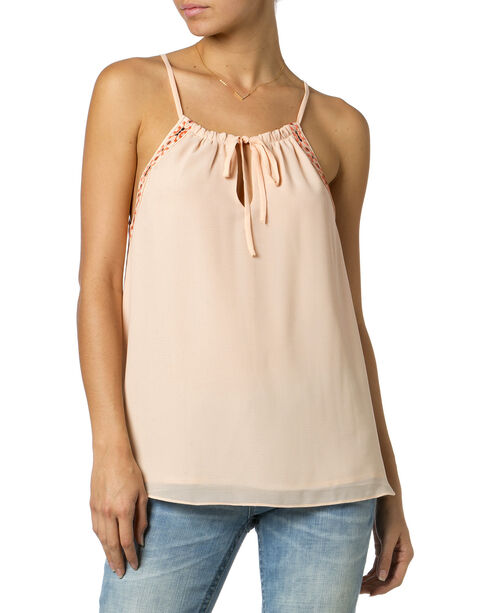 Miss Me Women's Forever Young Halter Cami, Blush, hi-res