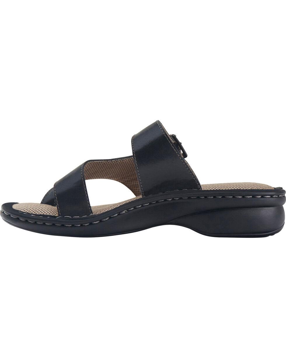 Eastland Women's Black Townsend Thong Sandals , Black, hi-res