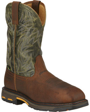 Ariat Men's Workhog Composite Toe Met Guard Work Boots, Brown, hi-res