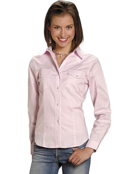 Roper Women's Stretch Poplin Shirt, Pink, hi-res