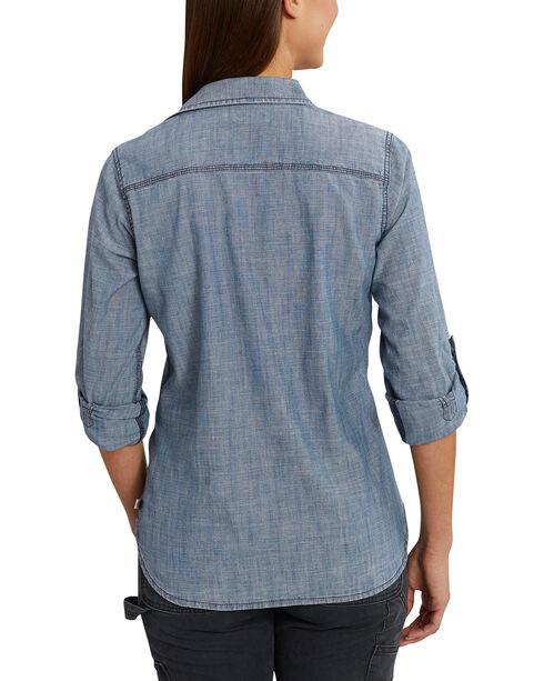 Carhartt Women's Denim Button Up Shirt, Indigo, hi-res
