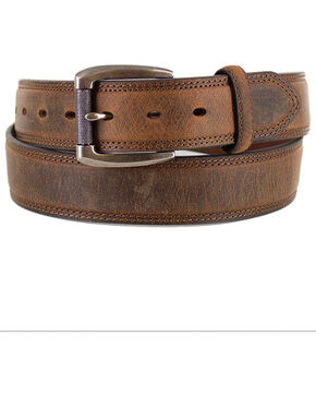 American Worker®  Men's Distressed Belt, Tan, hi-res