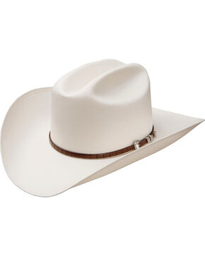 Stetson Men's Premier Collection Bar None 100X Straw Cowboy Hat, Natural, hi-res