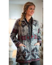 Ryan Michael Women's Grey Wool Blanket Jacket , , hi-res