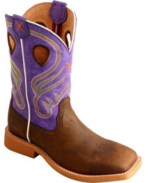 Twisted X Kids' Crazy Horse Western Boots, , hi-res