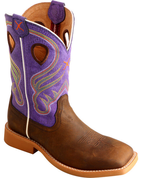 Twisted X Kids' Crazy Horse Western Boots, Crazyhorse, hi-res