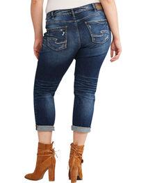 Silver Women's Sam Boyfriend Jeans - Plus Size, Indigo, hi-res