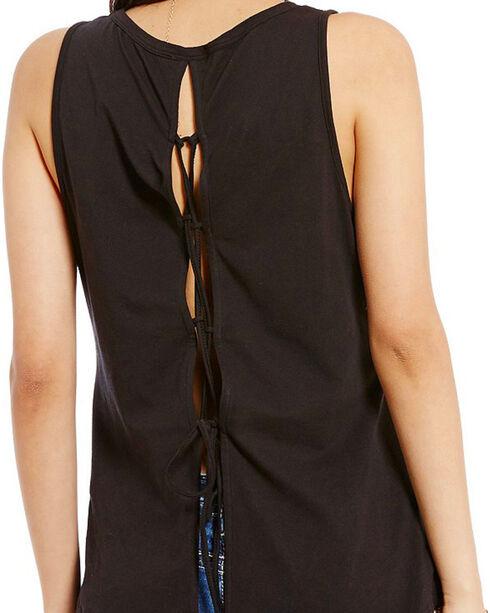 Miss Me Women's Tieback Sleeveless Top , Black, hi-res