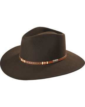 Stetson Men's Light Brown Monterey T Felt Hat , Chocolate, hi-res