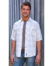 Wrangler Men's George Strait Plaid Short Sleeve Shirt, , hi-res
