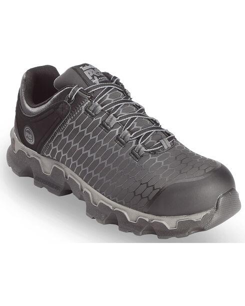Timberland Men's Black Powertrain Sport EH Work Shoes - Alloy Toe , Black, hi-res