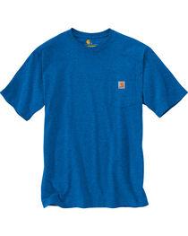 Carhartt Men's Blue Heather Workwear Pocket T-Shirt - Big , , hi-res