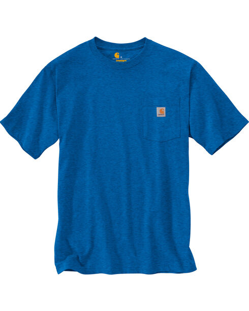 Carhartt Men's Blue Heather Workwear Pocket T-Shirt - Big , Blue, hi-res