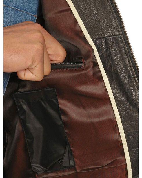 Interstate Leather Men's Crazy Horse Motorcycle Vest, Black, hi-res