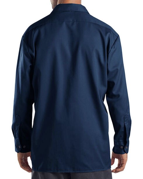Dickies Men's Navy Hanging Long Sleeve Shirt , Navy, hi-res