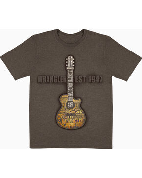 Wrangler Men's Guitar T-Shirt, Brown, hi-res