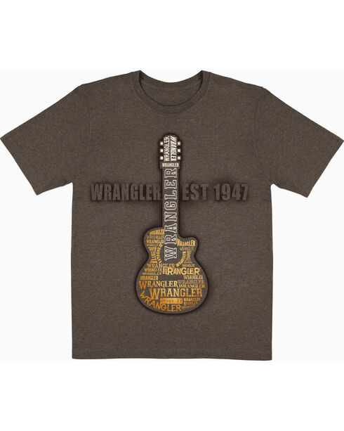 Wrangler Men's Guitar T-Shirt, Brown, hi-res