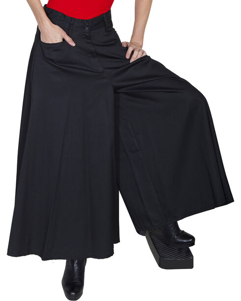 Scully Women's Split-Skirt Riding Pants, Black, hi-res