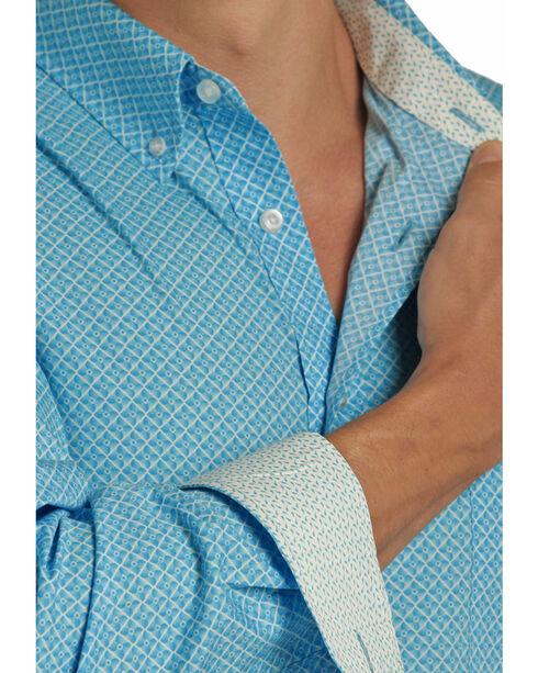 Panhandle Men's Peached Cotton Print Shirt , Blue, hi-res