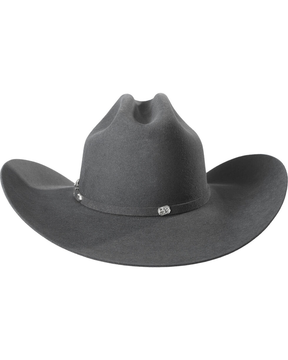 Justin Bent Rail Men's Grey 7X Bullet Cowboy Hat, Grey, hi-res