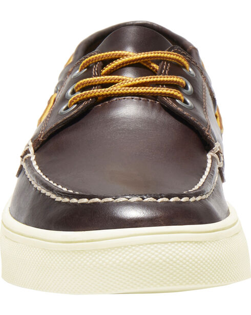 Eastland Men's Three-Eye Captain Oxford - Moc Toe , Dark Brown, hi-res