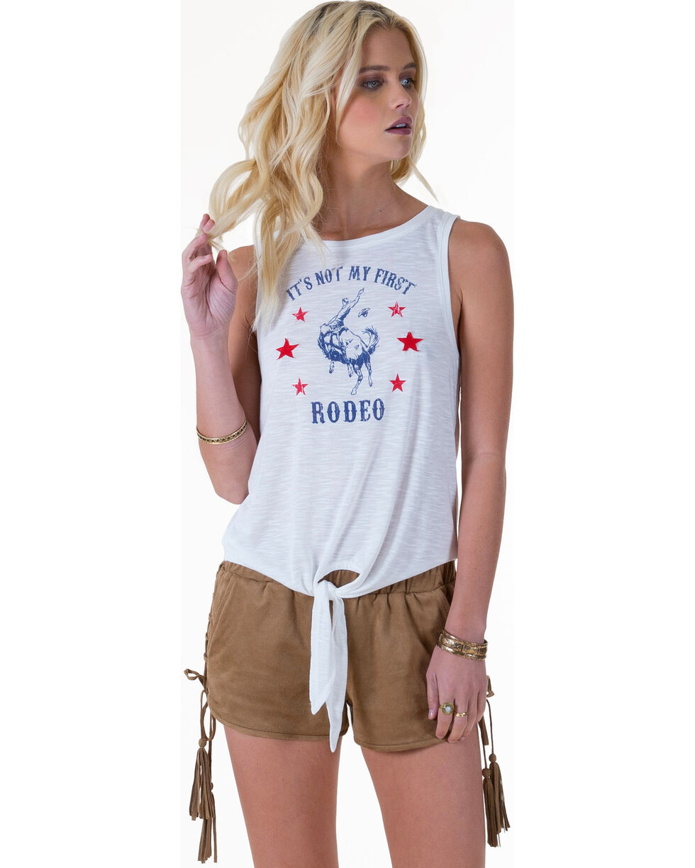 "White Crow Women's ""Not My First Rodeo"" Tank Top , Cloude, hi-res"