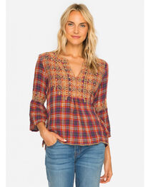 Johnny Was Women's Megan Flare Sleeve Boho Blouse , , hi-res