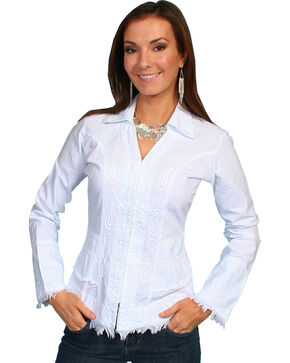 Scully Women's Long Sleeve Shirt/Jacket, White, hi-res