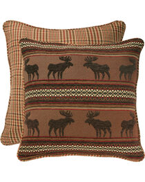 HiEnd Accents Bayfield Houndstooth Moose Euro Sham, , hi-res