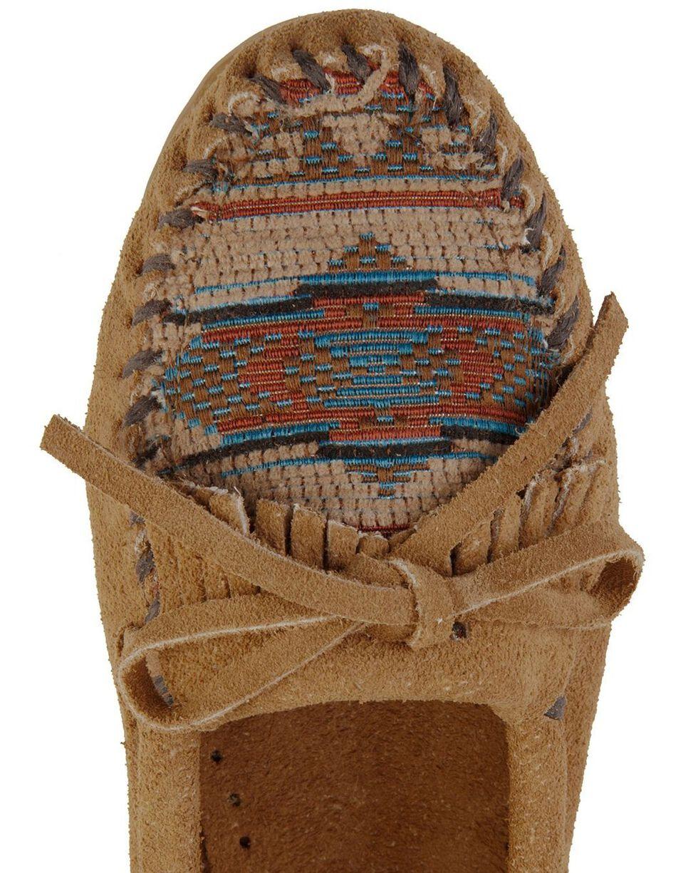 Minnetonka El Paso Woven Southwestern Moccasins, Taupe, hi-res