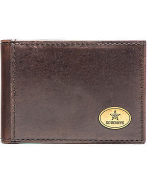 Jack Mason Men's Dallas Cowboys Legacy Flip Bifold Wallet , Brown, hi-res