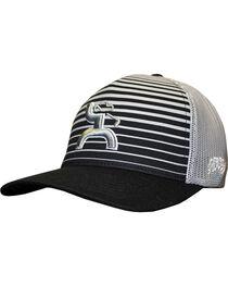 Hooey Men's Black Long Drive Flexfit Baseball Cap , , hi-res