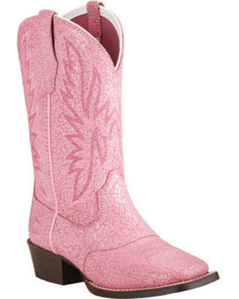 Ariat Girls' Pastel Pink Outrider Western Boots, , hi-res