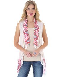 Wrangler Rock 47 Women's Cropped Pom Pom Vest, , hi-res