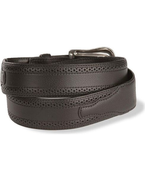 Ariat Men's Basic Perfed Edge Western Belt, Black, hi-res