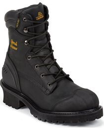 Chippewa Men's Insulated Rubber Toe Logger Work Boots, , hi-res